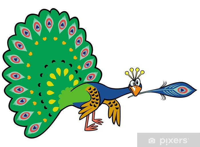Autocolante Pixerstick Desenhos Animados Pavao Pixers Vivemos