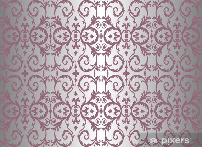 Carta Da Parati Damascata Rosa : Carta da parati rosa e argento vintage wallpaper u pixers