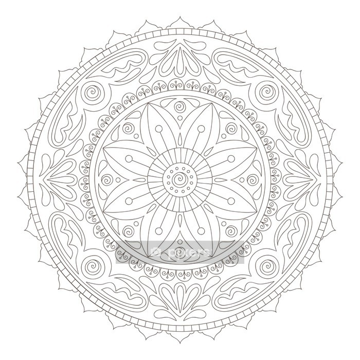 Mandala doodle Wall Decal - Wall decals