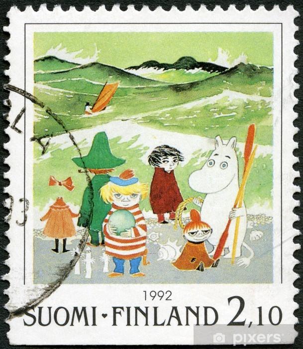 Fotomural Estándar FINLANDIA - 1992: muestra personajes de Moomin de dibujos animados, por Tove Jansson - Temas