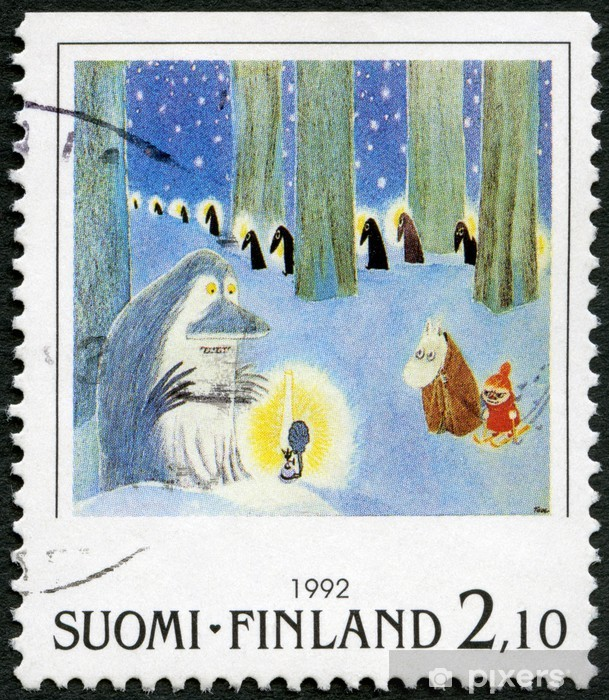 FINLAND - 1992: shows Moomin Cartoon Characters, by Tove Jansson Vinyl Wall Mural - Themes