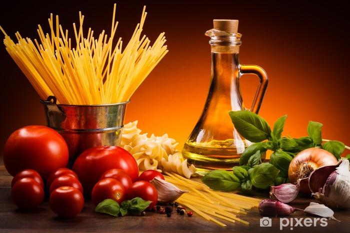 Naklejka Pixerstick Pasta i świeże warzywa - Tematy