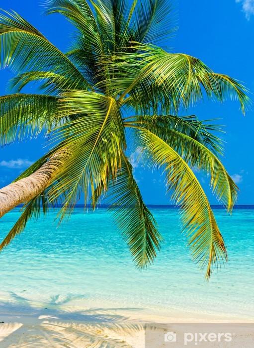 Vinilo para Nevera Tropical beach -