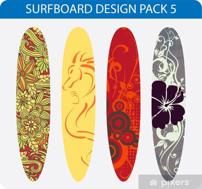 Papier Peint Pack De Vecteur De Quatre Dessins Colores De Planche De Surf Pixers Nous Vivons Pour Changer