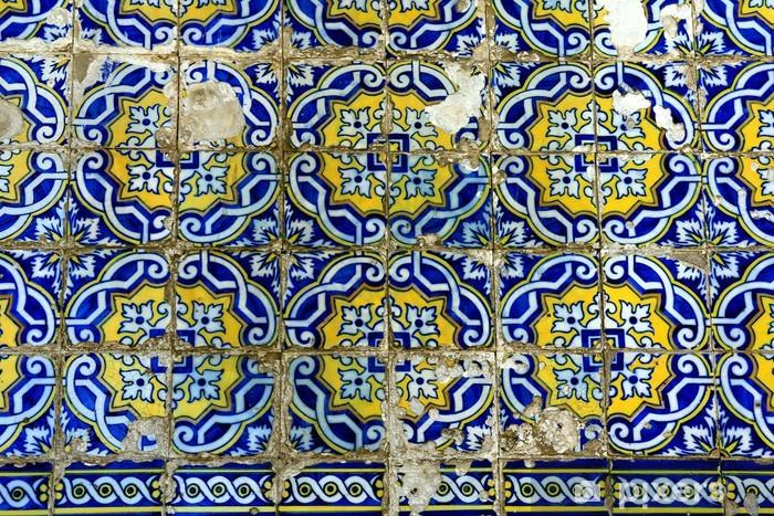 Azulejo in Porto, Portugal Vinyl Wall Mural - Themes
