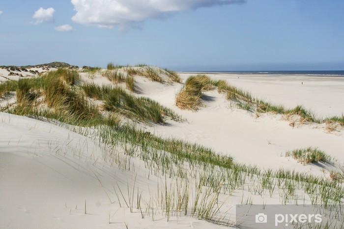 Vinilo Pixerstick Dunas de arena en la costa de los Países Bajos - Temas