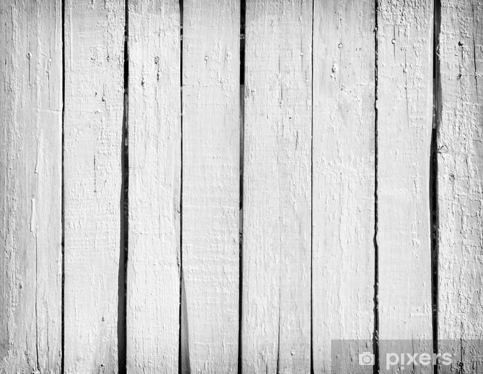Vinyl Fotobehang Hout vuil wit - Achtergrond