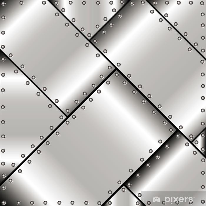 Pixerstick Sticker Achtergrond van metalen platen - Stijlen