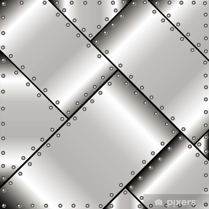 Background of metal plates Pixerstick Sticker - Styles