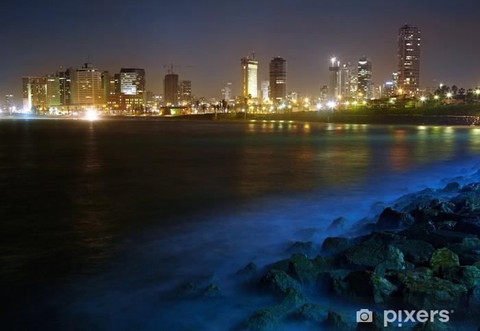 Pixerstick Dekor Tel Aviv. Night view från Jaffa - Mellanöstern
