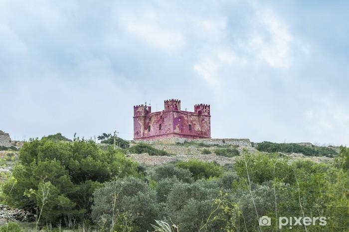 Sticker Pixerstick Tour de Sainte-Agathe à Malte - Europe