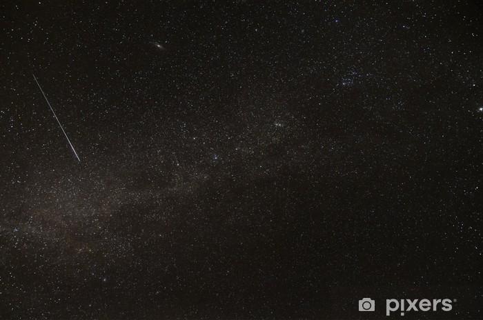 Papier peint vinyle Voie lactée, galaxie d'Andromède et le sentier satellite - Espace