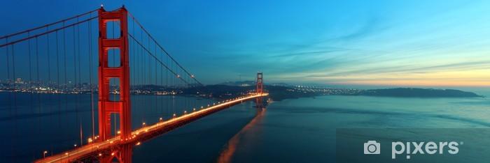 Naklejka Pixerstick Most Golden Gate - Miasta amerykańskie