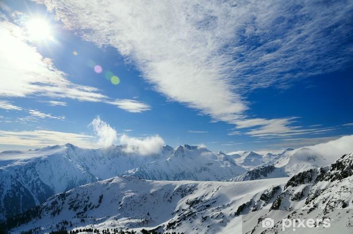 Papier peint vinyle Paysage de montagne d'hiver à Bansko - Thèmes