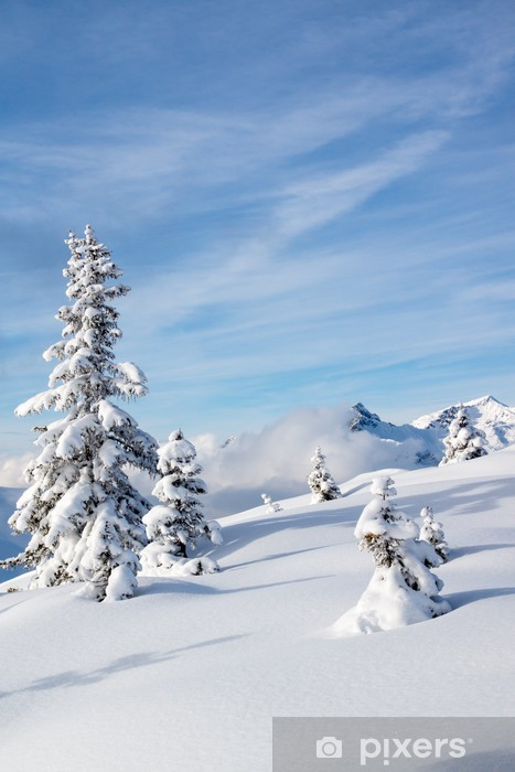 Pixerstick Sticker Winterlandschap - Winter