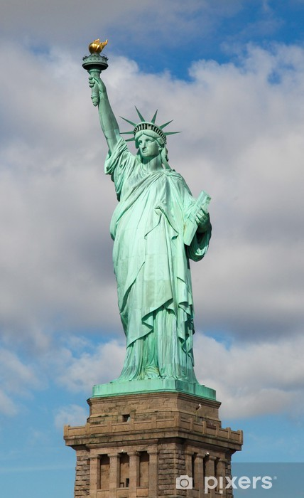 Sticker Pixerstick Statue de la liberté New York - Villes américaines