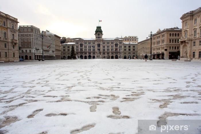Nálepka Pixerstick Piazza sjednocení Itálie, Trieste - Památky