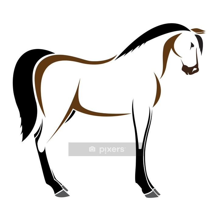 Sticker mural Vecteur d'image d'un cheval sur fond blanc - Sticker mural