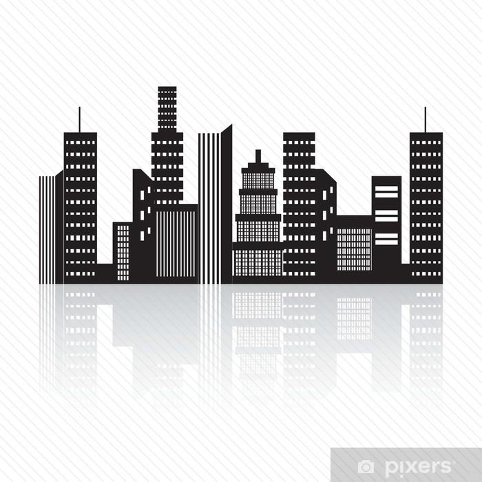City Skyline Sticker Pixers We Live To Change