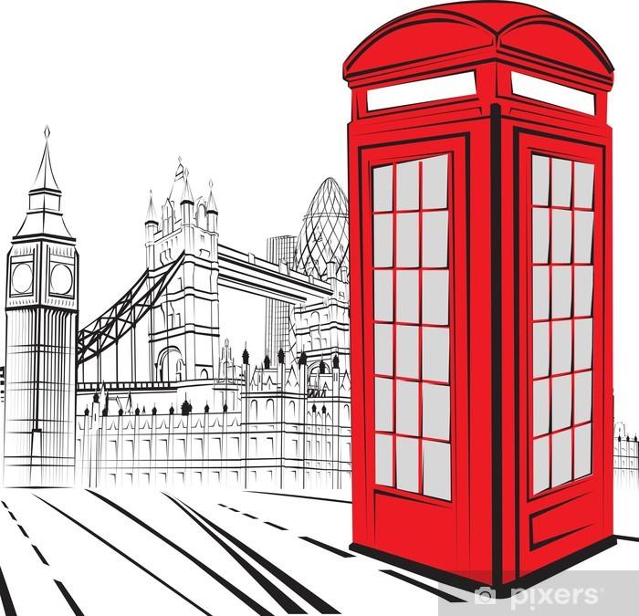 Fotomural Estándar Sketch London City - Londres