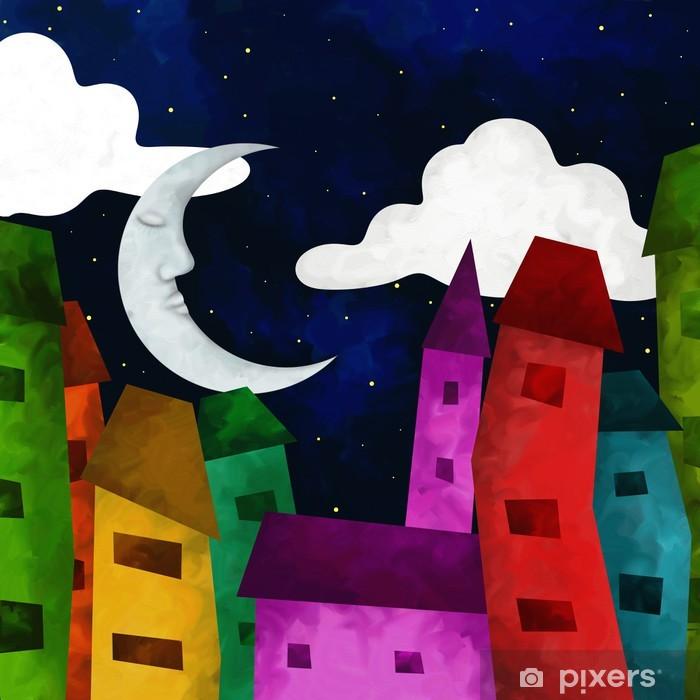 Papier peint vinyle Casette di notte - Paysages urbains