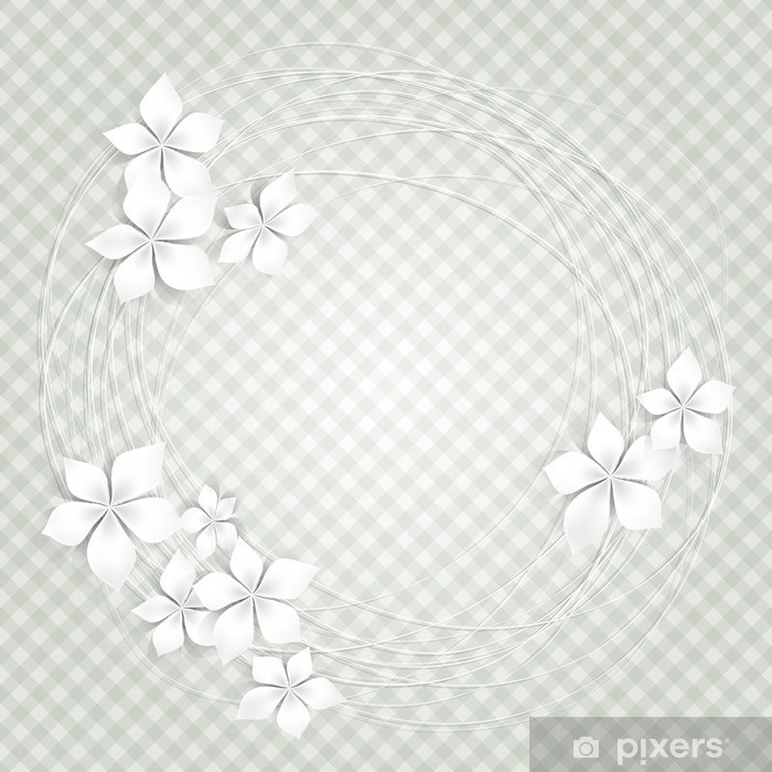 Vinyl Fotobehang Florale achtergrond met witte bloemen-Sfondo con fiori bianchi - Viering
