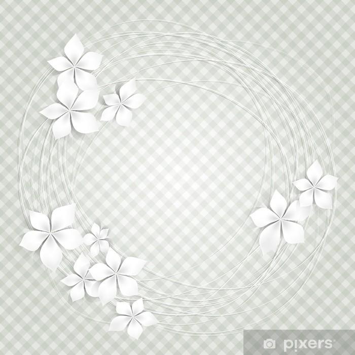 Papier peint vinyle Fond floral avec des fleurs blanches-Sfondo con fiori bianchi - Célébrations