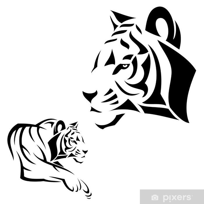 Poster Tigre de tatouage - Mammifères