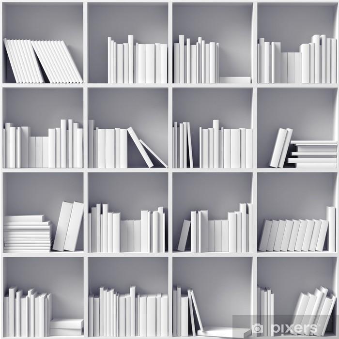 Fototapeta winylowa Białe regały - Biblioteczka