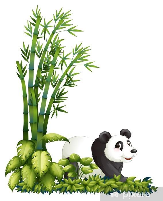 Nálepka Pixerstick Panda schovává - Nálepka na stěny