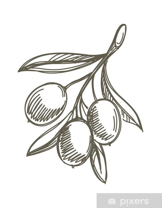 Papier peint vinyle Olives - Olives
