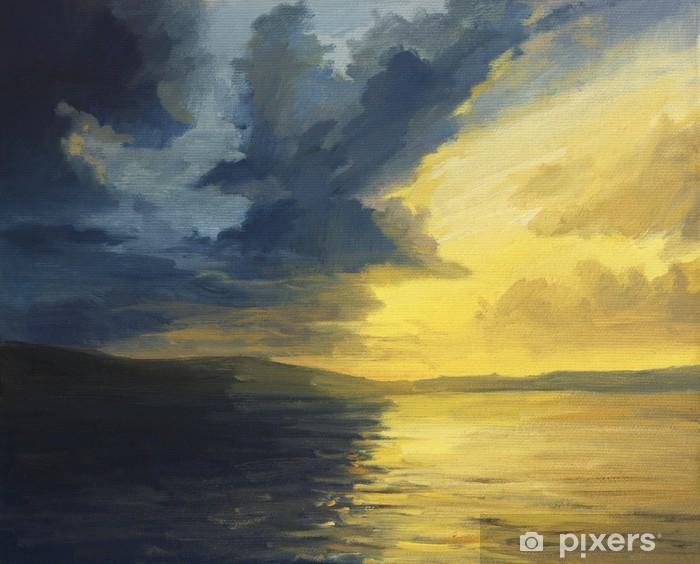 Naklejka Pixerstick Zachód słońca światła i cienia - Sztuka i twórczość