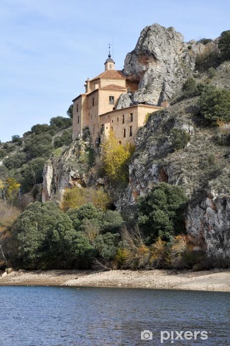 Naklejka Pixerstick Ermita de San Saturio, Soria (Hiszpania) - Europa