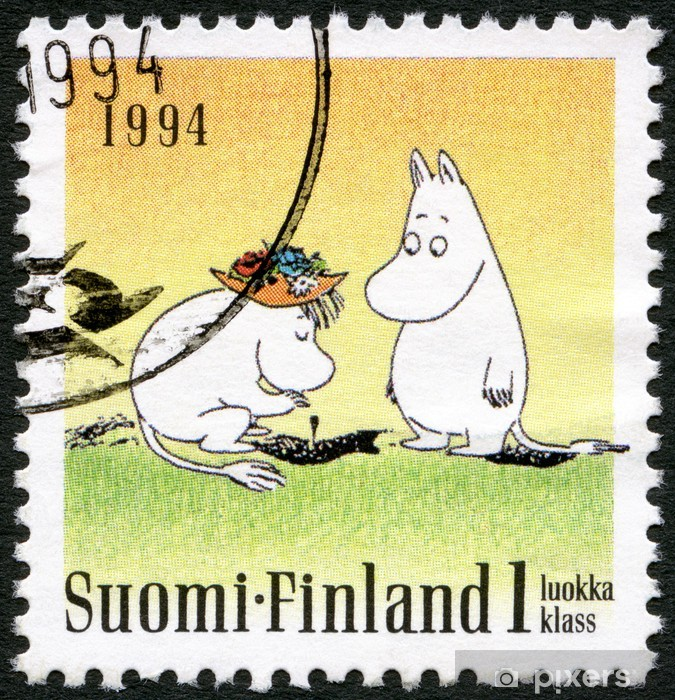 FINLAND - 1994: shows Moomin characters, Friendship Vinyl Wall Mural - Themes