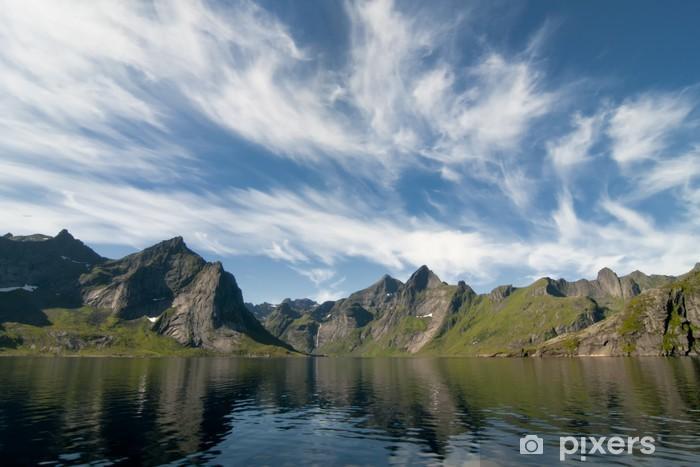 Papier peint vinyle Lofoten île de Norvège - Eau
