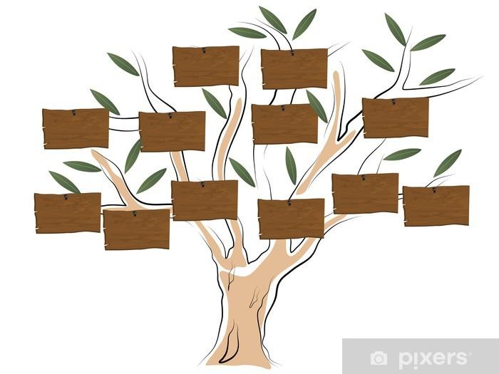Naklejka Pixerstick Drzewo genealogiczne - Drzewa