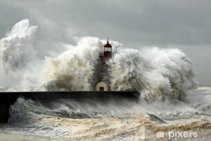 Naklejka Pixerstick Wietrzne wybrzeże - Latarnia morska