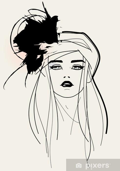 Fototapeta winylowa Model twarzy / elegancki wygląd Fashion - Tematy