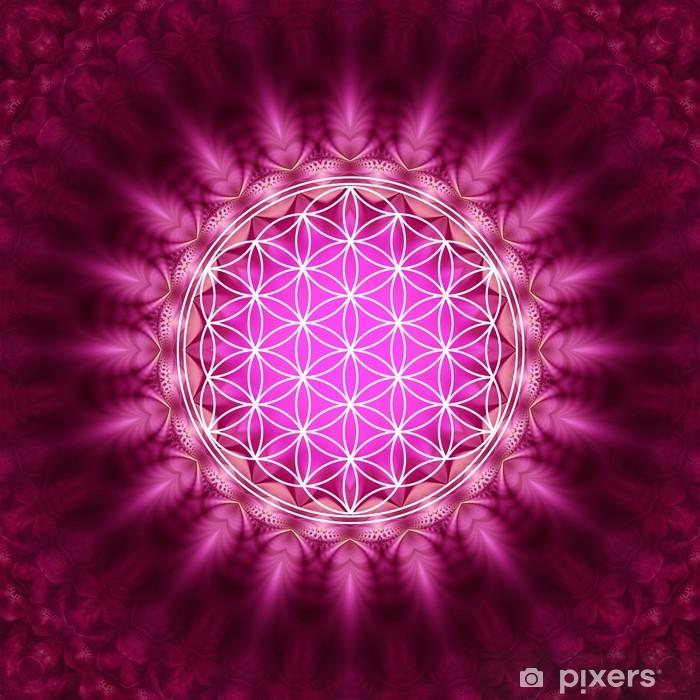 Carta da Parati in Vinile Blume des Lebens - Energetisierung, Heilige Geometrie - Stili