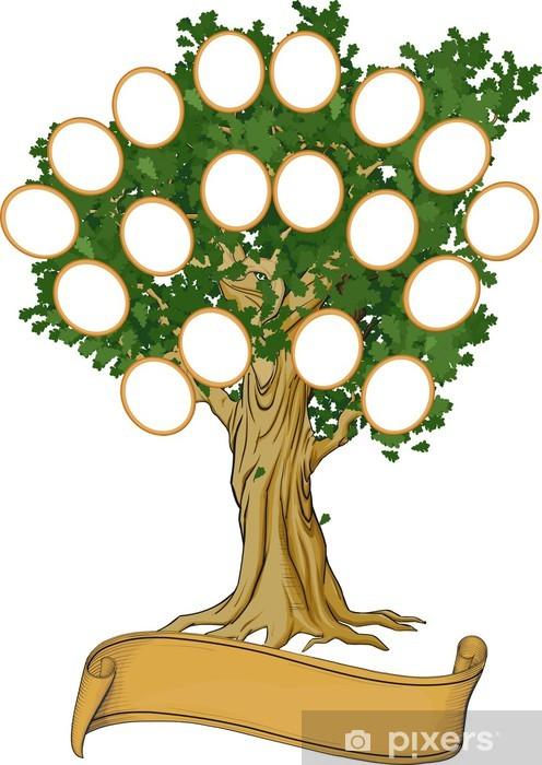 Naklejka Pixerstick Drzewo genealogiczne - Sukces i osiągnięcia