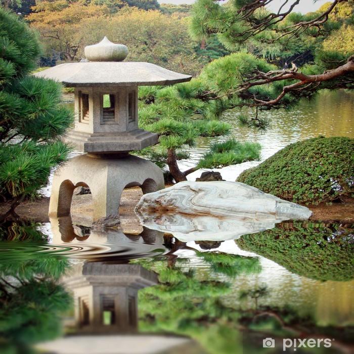 Sticker pour porte Le Jardin japonais