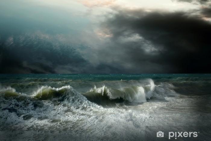 Naklejka Pixerstick Seascape widok burzy - Tematy
