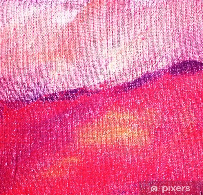 Naklejka Pixerstick Streszczenie liliowy malarstwo olej na płótnie, ilustracja, backgrou - Sztuka i twórczość
