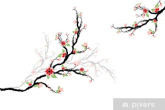 Sticker Pixerstick Fleurs de cerisier Arbre - Saisons