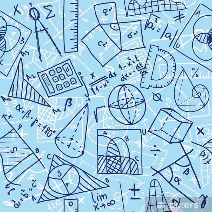 Sticker Pixerstick Mathématiques seamless - Sciences fondamentales et appliquées
