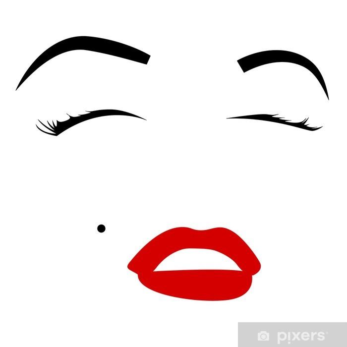 Marilyn monroe Pixerstick Sticker - Themes
