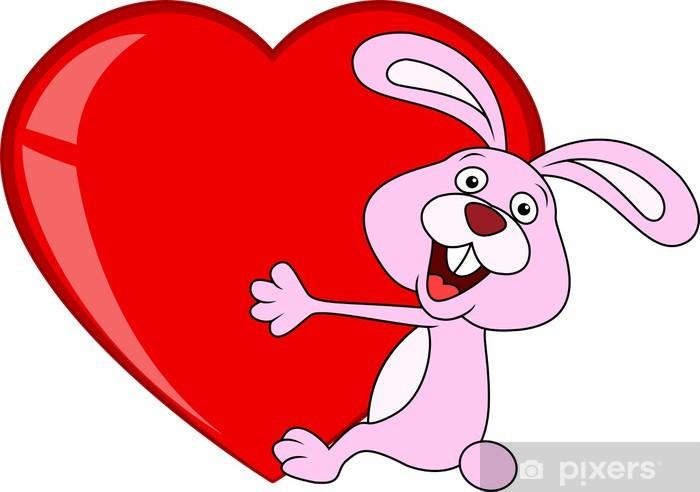 Adesivo Coniglio Amore Cuore Abbraccio Pixers Viviamo Per Il