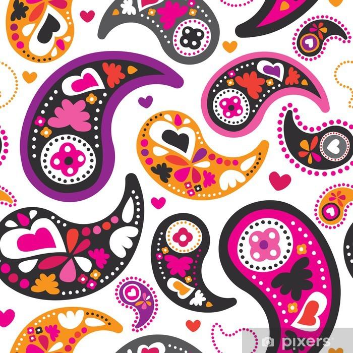 Plakat Jednolite tło wzór perski orientalne paisley w wektorze - Style