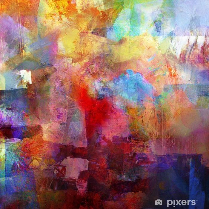 Vinyl Fotobehang Schilderij textures - Hobby's en Vrije tijd