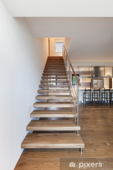 Fototapeta winylowa Nowoczesne schody, wnętrze domu - Budynki prywatne